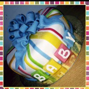 Baby shower tårta Nr 1 | Weda Bageri